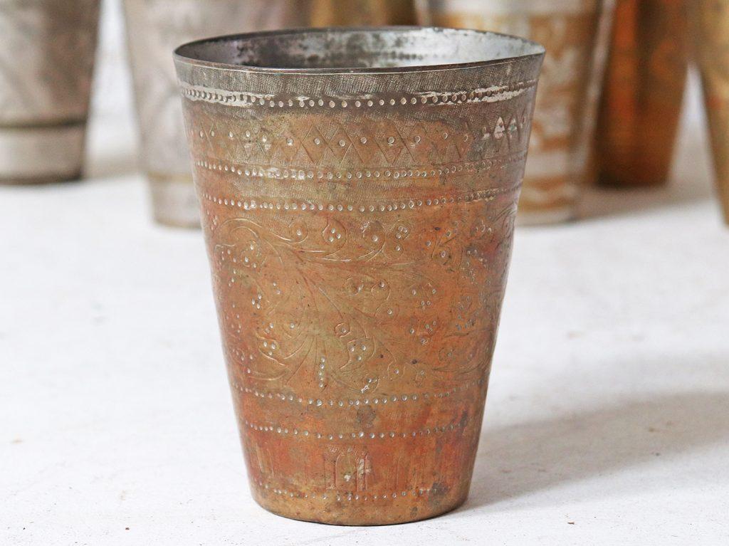Vintage Brass Lassi Cup