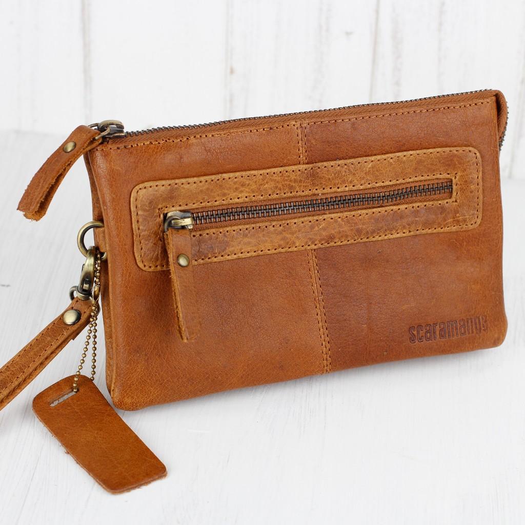women's leather handbags wristlet clutch bag