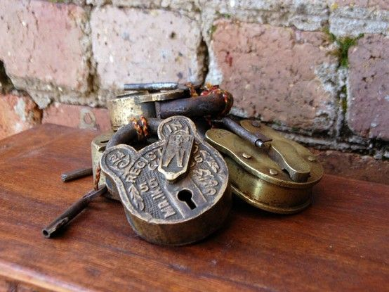 vintage love padlocks