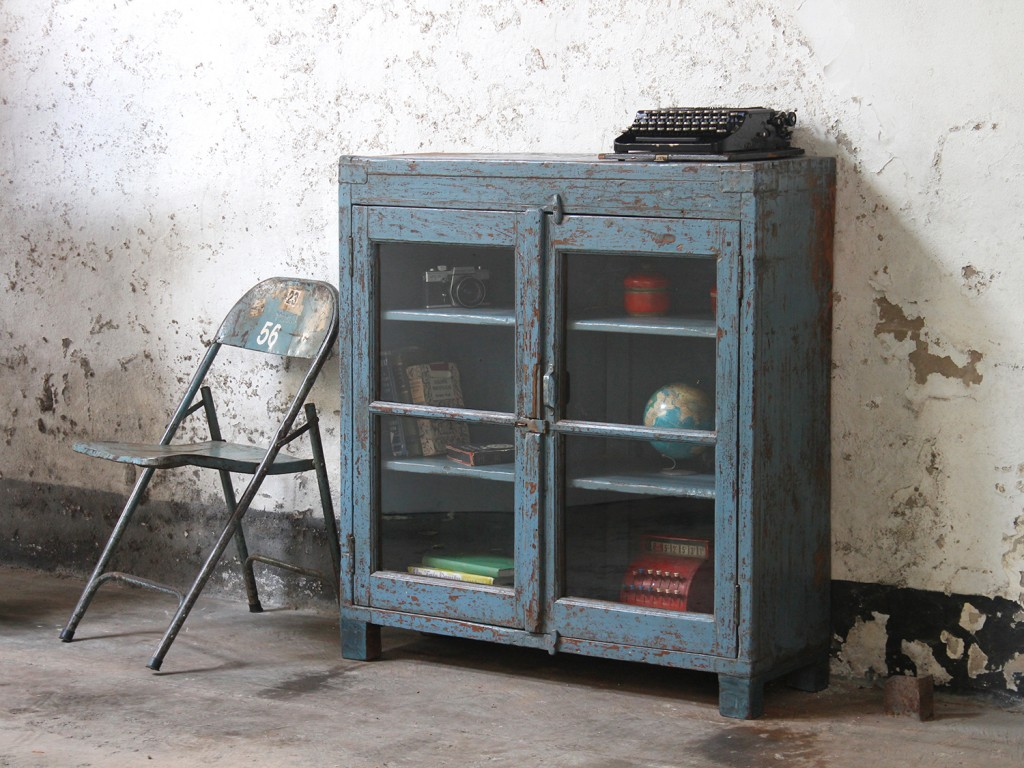 blue vintage wardrobe from Scaramanga's vintage furniture collection