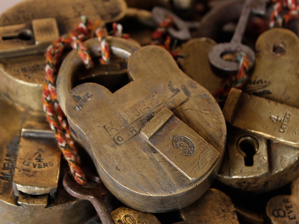old metal padlocks