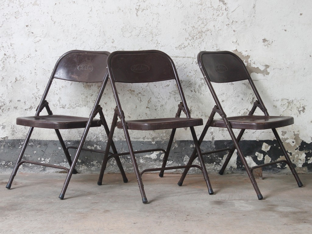metal chairs brown