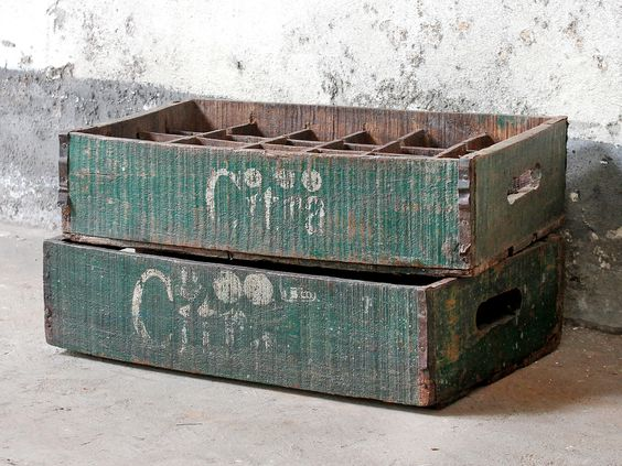Vintage Bottle Crates