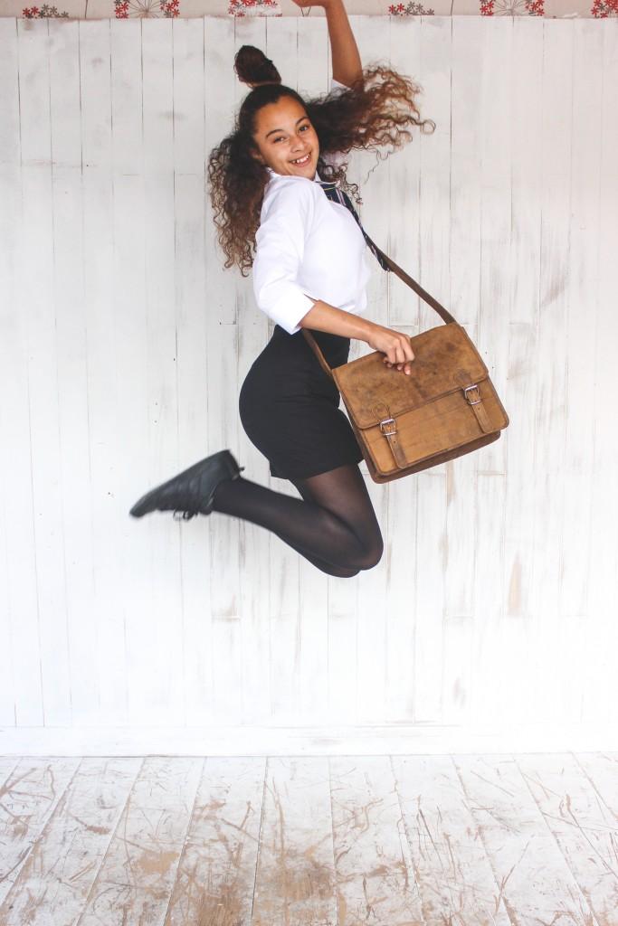 old school leather satchel