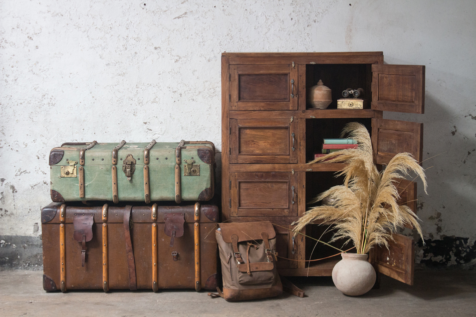vintage locker storage unit