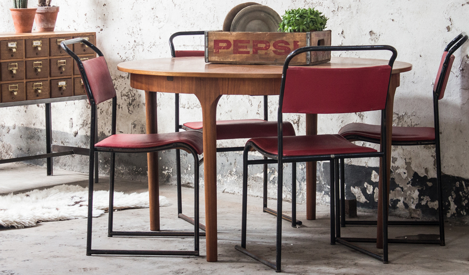 vintage tables in kitchen spaces