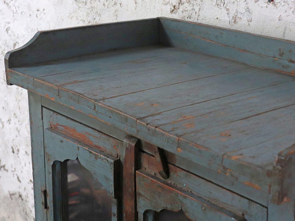 blue storage cupboard cabinet