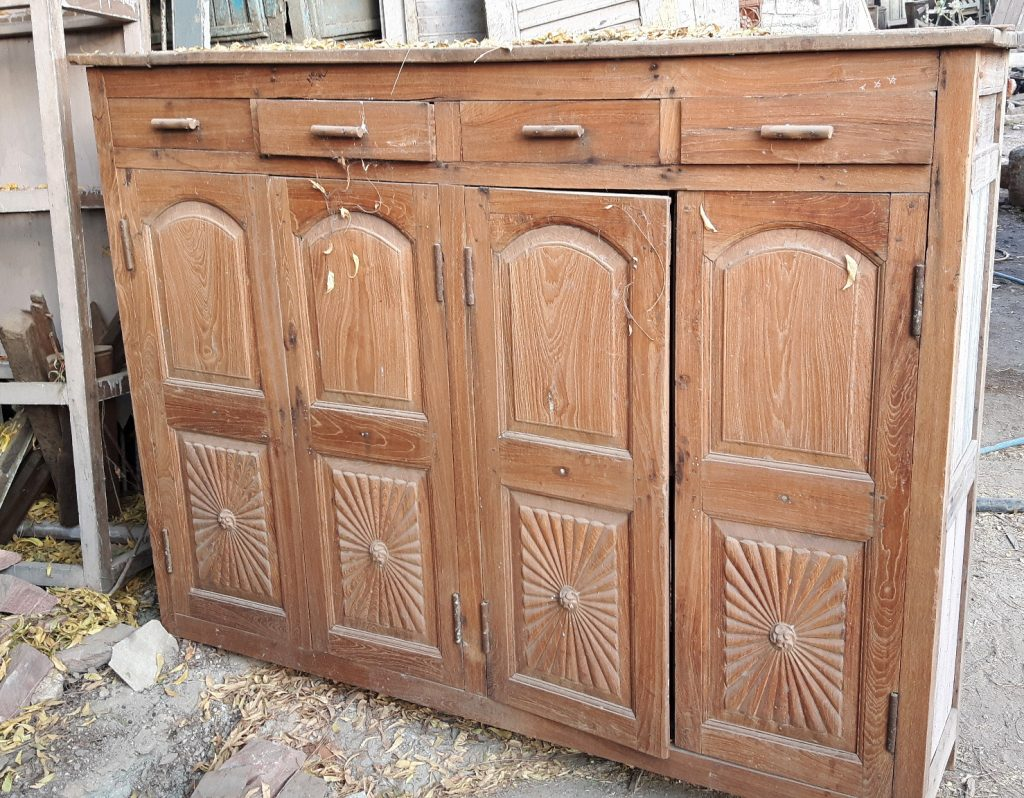 antique armoire made from teak