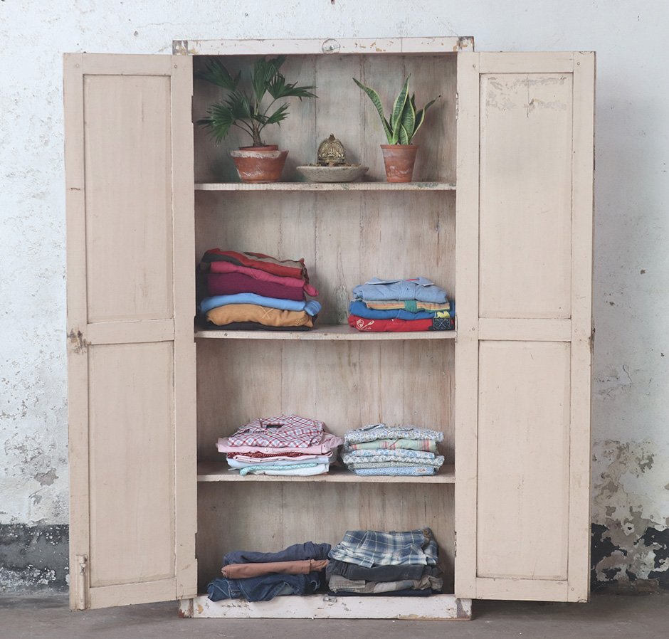 vintage wardrobes used for storing clothes