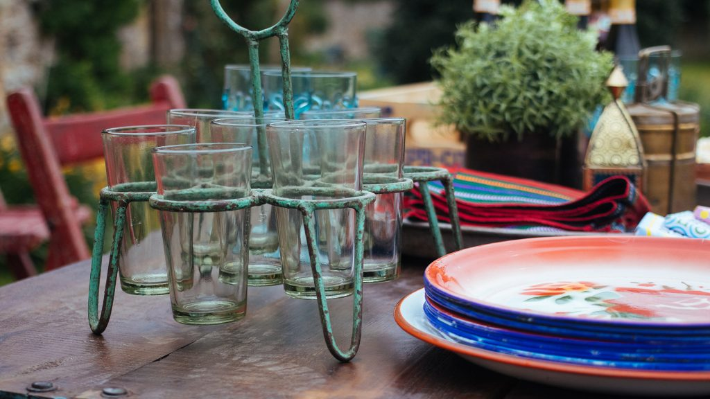 garden furniture   chai glasses   Scaramanga