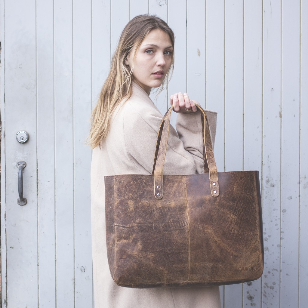 Our Leather Shopper Tote Bag