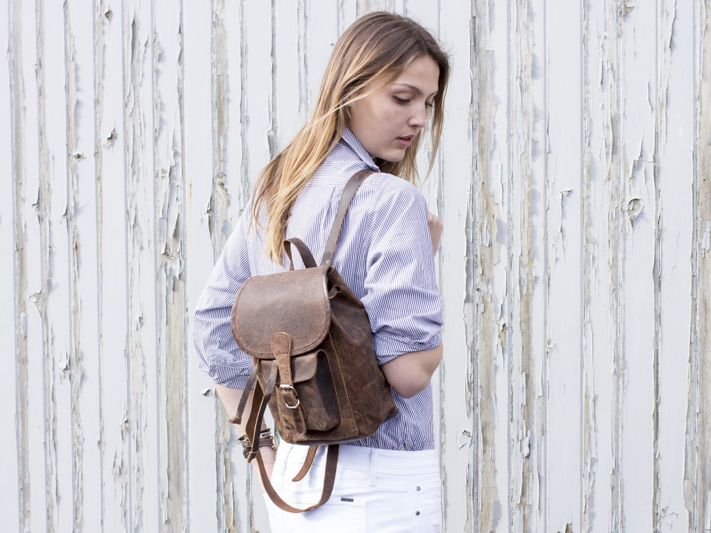 Our Boho Leather Backpack Mini