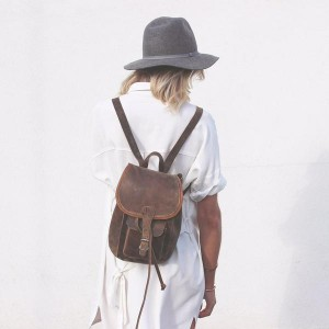 leather backpack fashion blogger