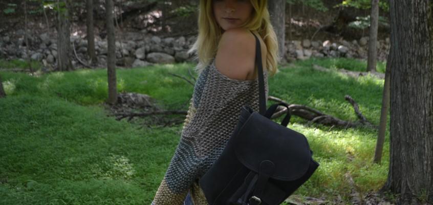 Christie Tyler X Scaramanga Black Leather Backpack