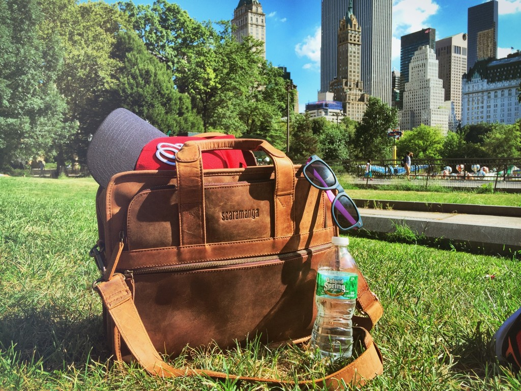 Everything needed for a trip to Central Park