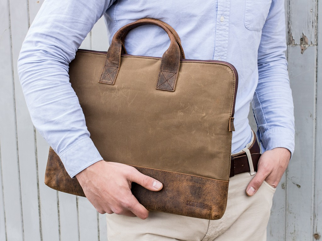 Leather and Canvas Portfolio Case - FLBG14026-alex1