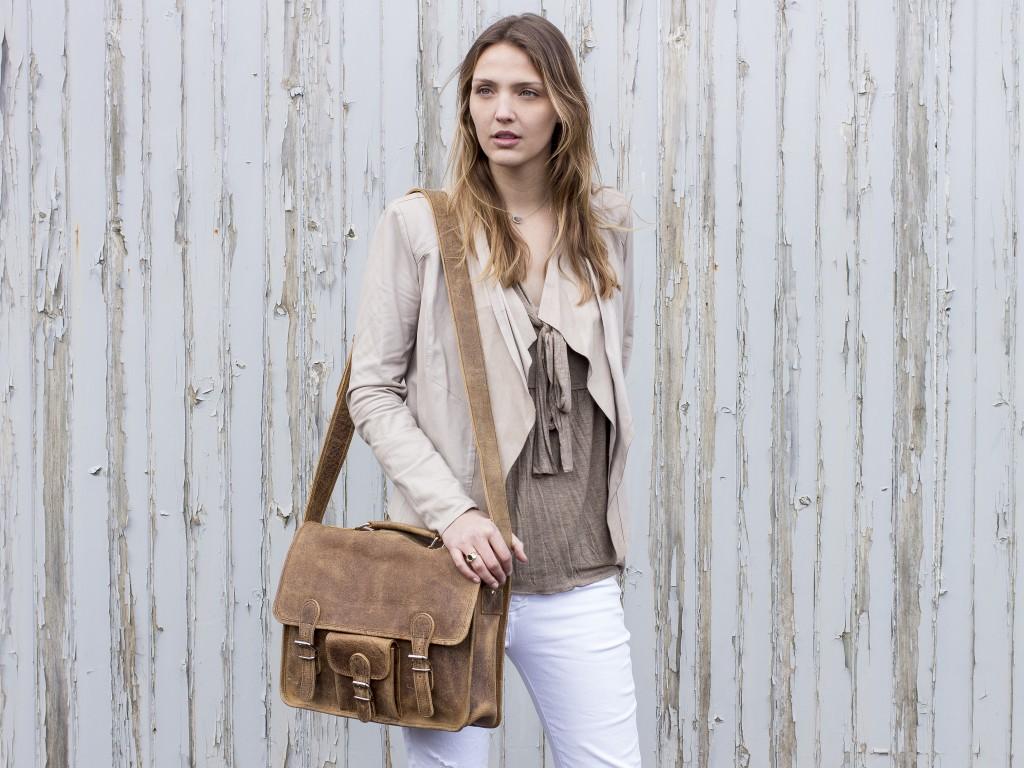 vintage leather satchel for women