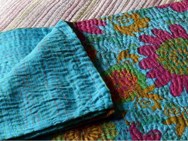 Turquoise Vintage Bedspread, £85