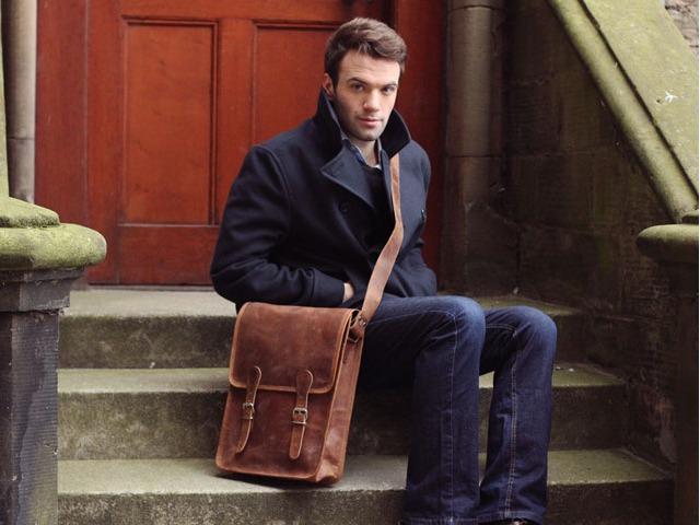 Large Retro Leather Satchel, £75