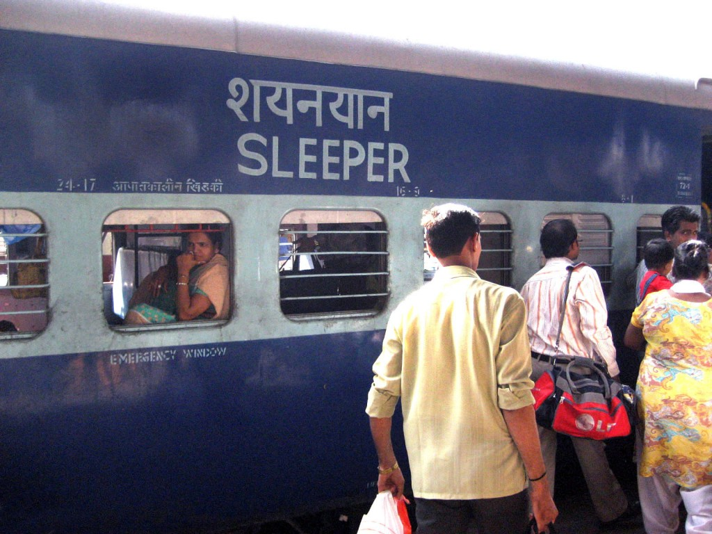 Indian sleeper train leaving from Delhi