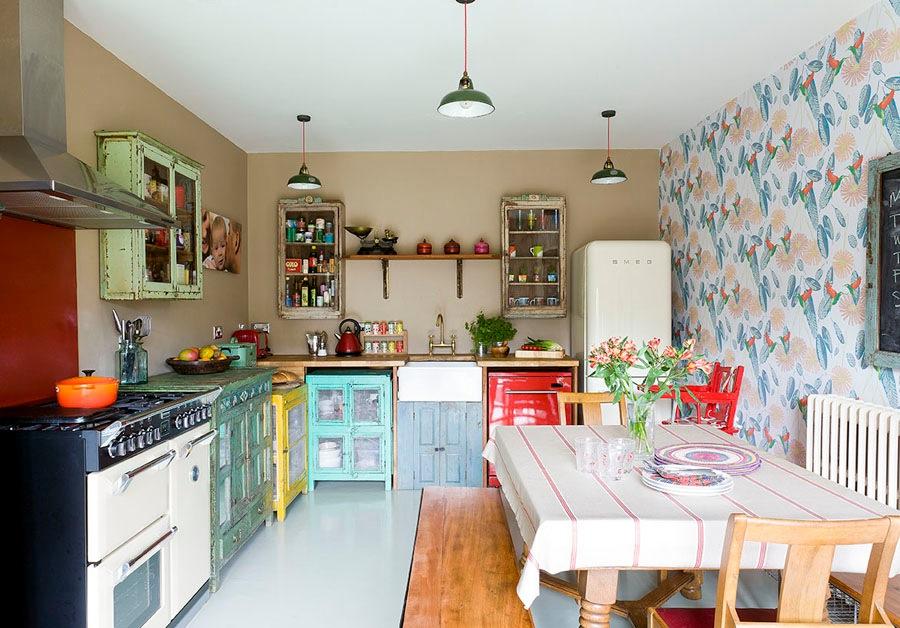 Vintage Kitchens With Modern Rustic Retro Inspiration Scaramanga