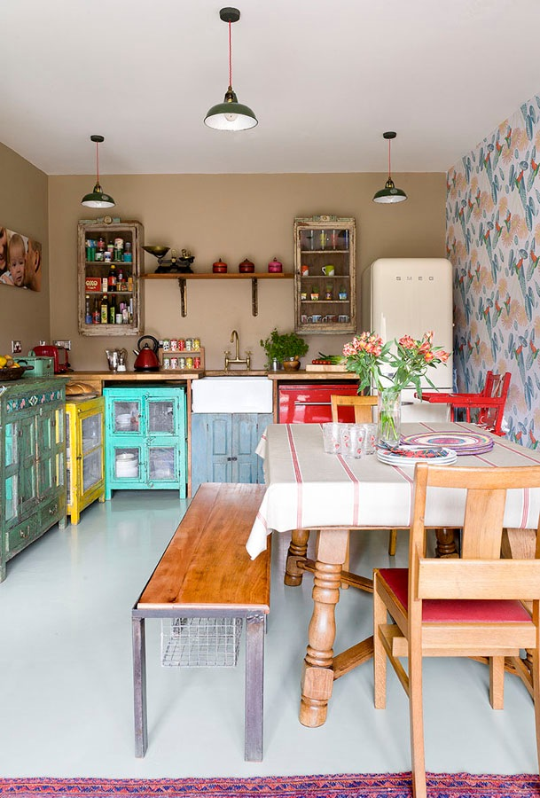 Vintage kitchens with modern rustic retro inspiration for Old modern kitchen