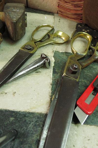 Hitesh's leather journal and binding tools