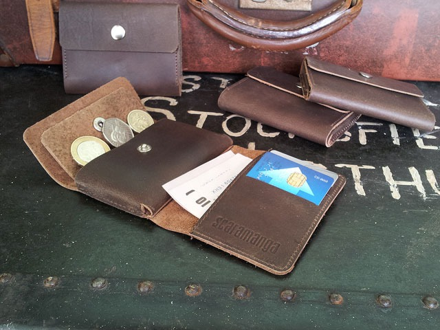 Men's Mini Brown Leather Wallet, £15