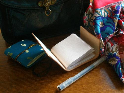 Mini Leather & Mini Sari Journals £2 and £1.25