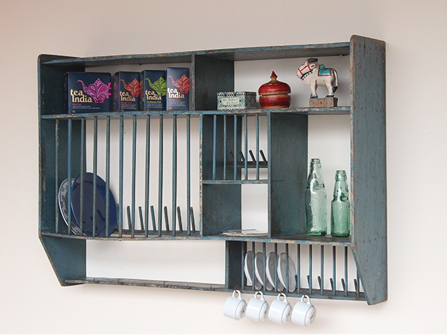 Vintage Wooden Plate and Condiment Rack, £300