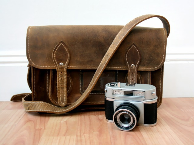The 13-inch satchel is able to hold a smaller camera and any daily essentials