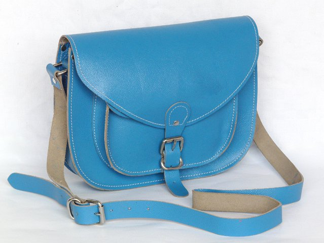 Classic Collection Blue Leather Saddlebag, £52