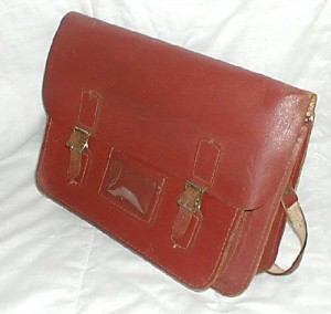 An old leather school satchel from the 70 s bf94014db822