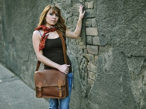 Girl's Leather Satchel £55 By Scaramanga