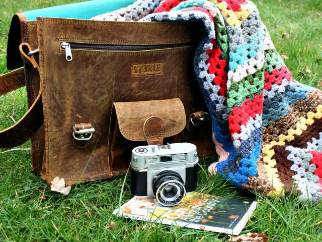Medium Wide Vintage Leather Satchel, £90
