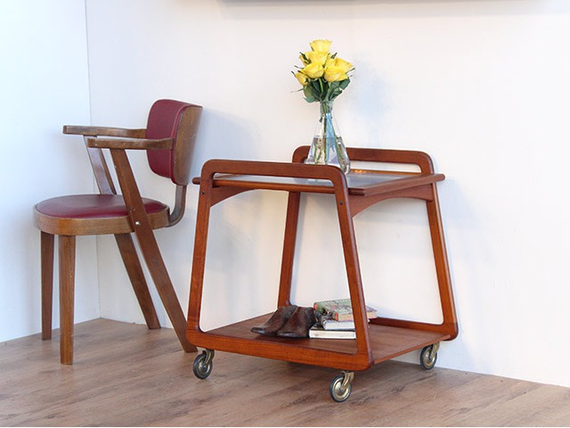 Mid-Century Sika Mobler Cocktail Trolley, £250