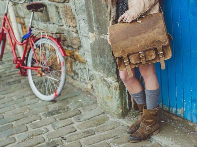 Small Overlander Leather Bag, £120