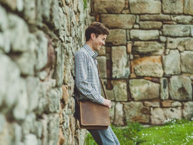 11-Inch iPad Leather Messenger Bag, £65