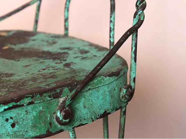 Vintage Twisted Wire Ice-Cream Chair, £60