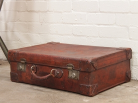 Vintage Brown Leather Suitcase | Luggage And Suitcases