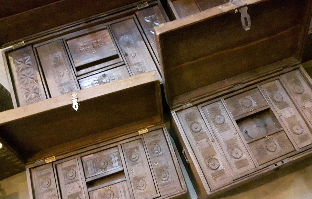 Here are a few of the fully rstored antique tea chests