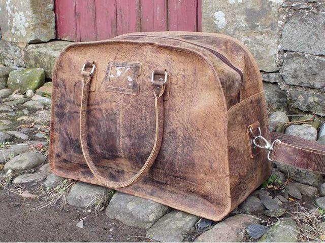 Vintage Leather Travel Holdall Bag, £149