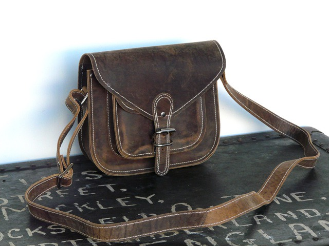 9-Inch Leather Saddle Bag, £39.50