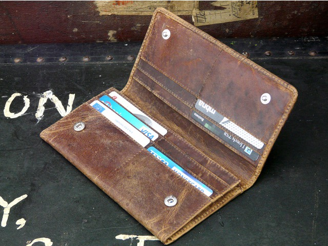 Women's Brown Leather Purse, £27.50