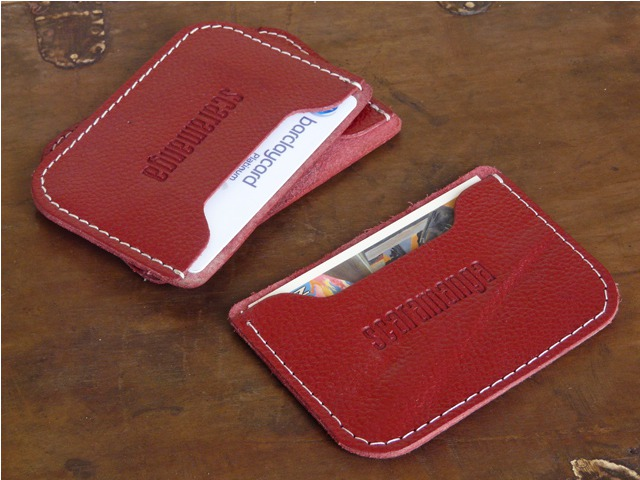 Red Leather Card Holder, £2.50