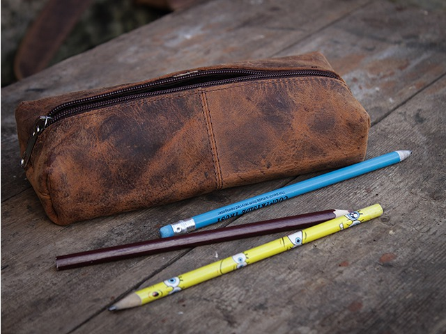 Leather Pencil Case, £7.50