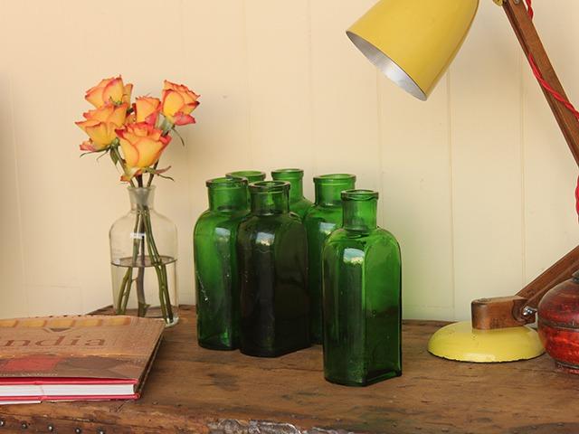 Vintage Green Glass Bottle, £10