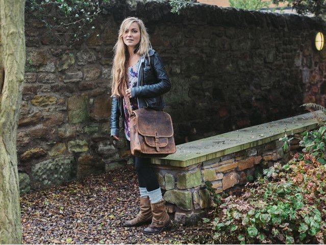 Large Vintage Leather Saddlebag, £95