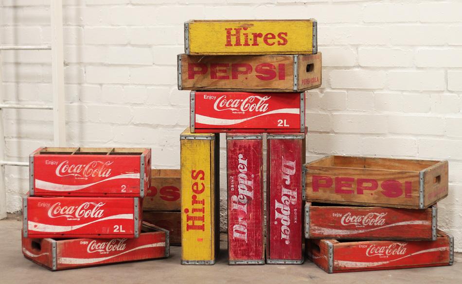 Soda crates Coca Cola Pepsi