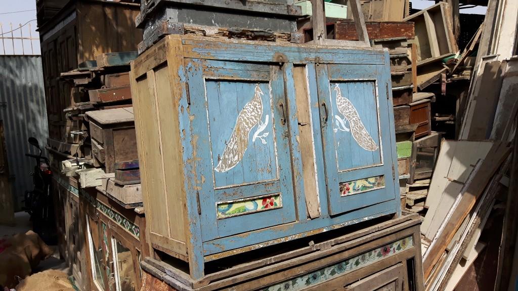Vintage blue cupboard